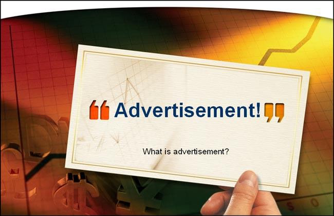 «What is advertisement?»  очиқ дарс