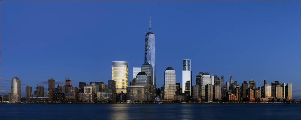 Lower Manhattan from Jersey City November 2014 panorama